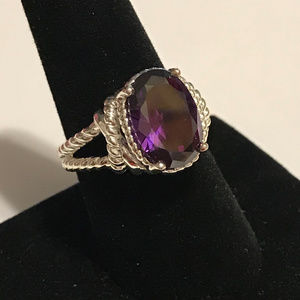 PURPLE STONE & ROPE BAND RING NCV SZ 9